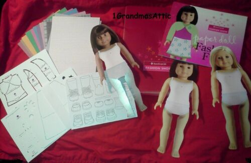 American Girl Fashion Show Paper Doll Set New Stencils Stands
