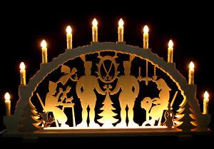 großer Schwibbogen Christi Geburt aus Holz Lichterbogen aus dem Erzgebirge neu