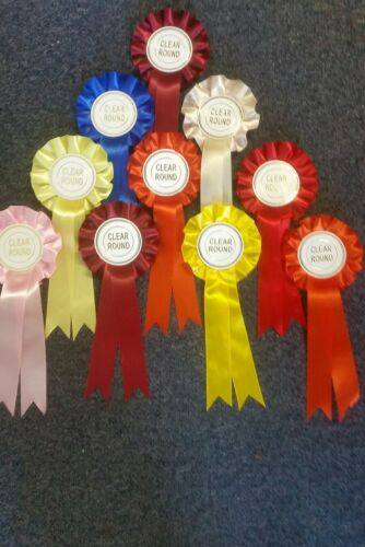 10 x CLEAR ROUND Rosettes