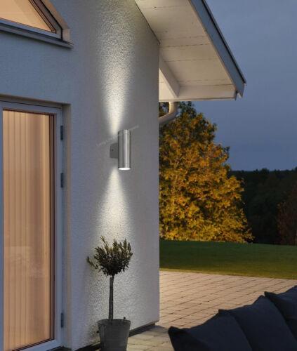 Moderne DEL en acier inoxydable double up down Extérieur Jardin mur de lumière blanc froid