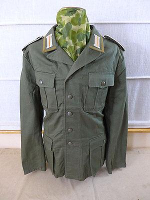 Gr.48 DAK Afrikakorps Feldbluse M40 schilfgrün Unteroffizier Uniform mit Litze