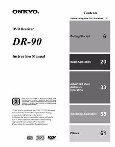 onkyo dr l50 manual