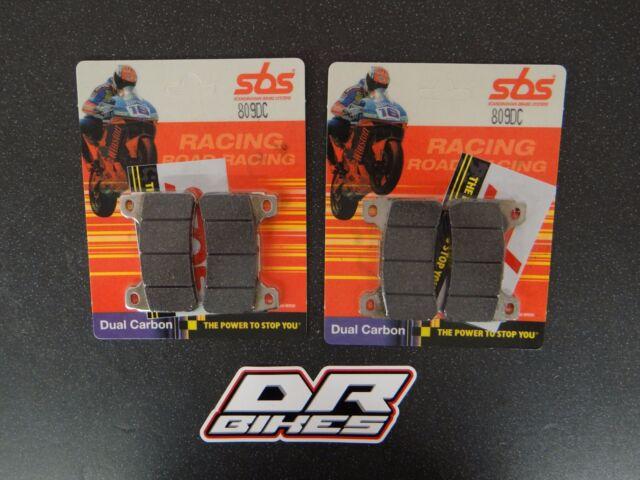 Honda CBR1000RR Fireblade 2004 2005 Dual Carbon Front Brake Pads 809DC