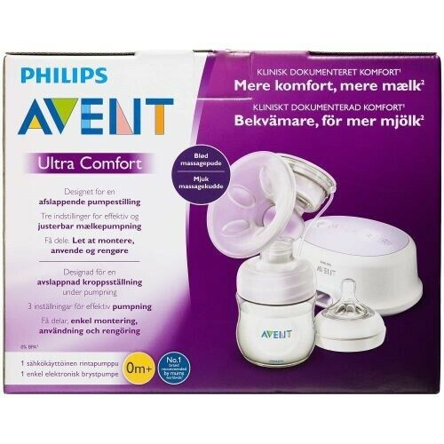 Brystpumpe, Enkelt elektrisk brystpumpe, Philips Avent
