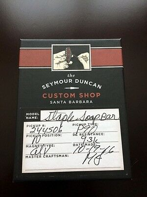 Seymour Duncan Custom Shop Soapbar P-90 Silver Staple Neck Cream  p90 soap bar