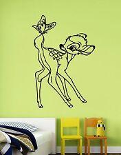 Bambi Sticker Vinyl Wall Decal Disney Cartoon Art Kids Room Nursery Decor bem5