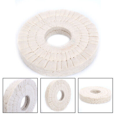150mm Cotton Airway Polishing Wheel Cloth Buffing Pad with 50mm Bore For Metal 40Plys