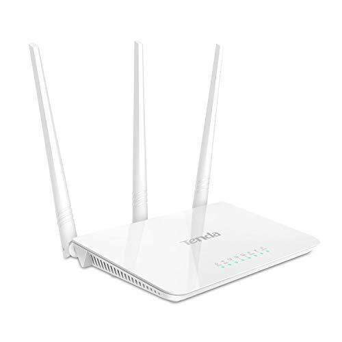 Tenda F3 Routeur 300 Mbps Wi-Fi N en 24 GHz Routeur Ethernet 4 ports 3 * 5dBi...