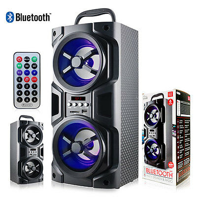 NEW Sentry Bluetooth Black Party Speaker & Radio LED Mood Light With Remote
