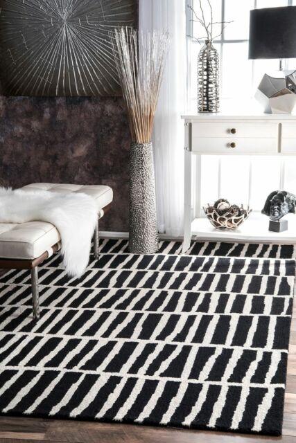Contemporary Modern Geometric Wool