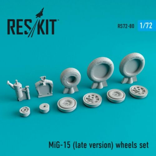 Resin Wheels Scale 1//72 Details about  / ResKit RS72-0080 MiG-15 Late Version