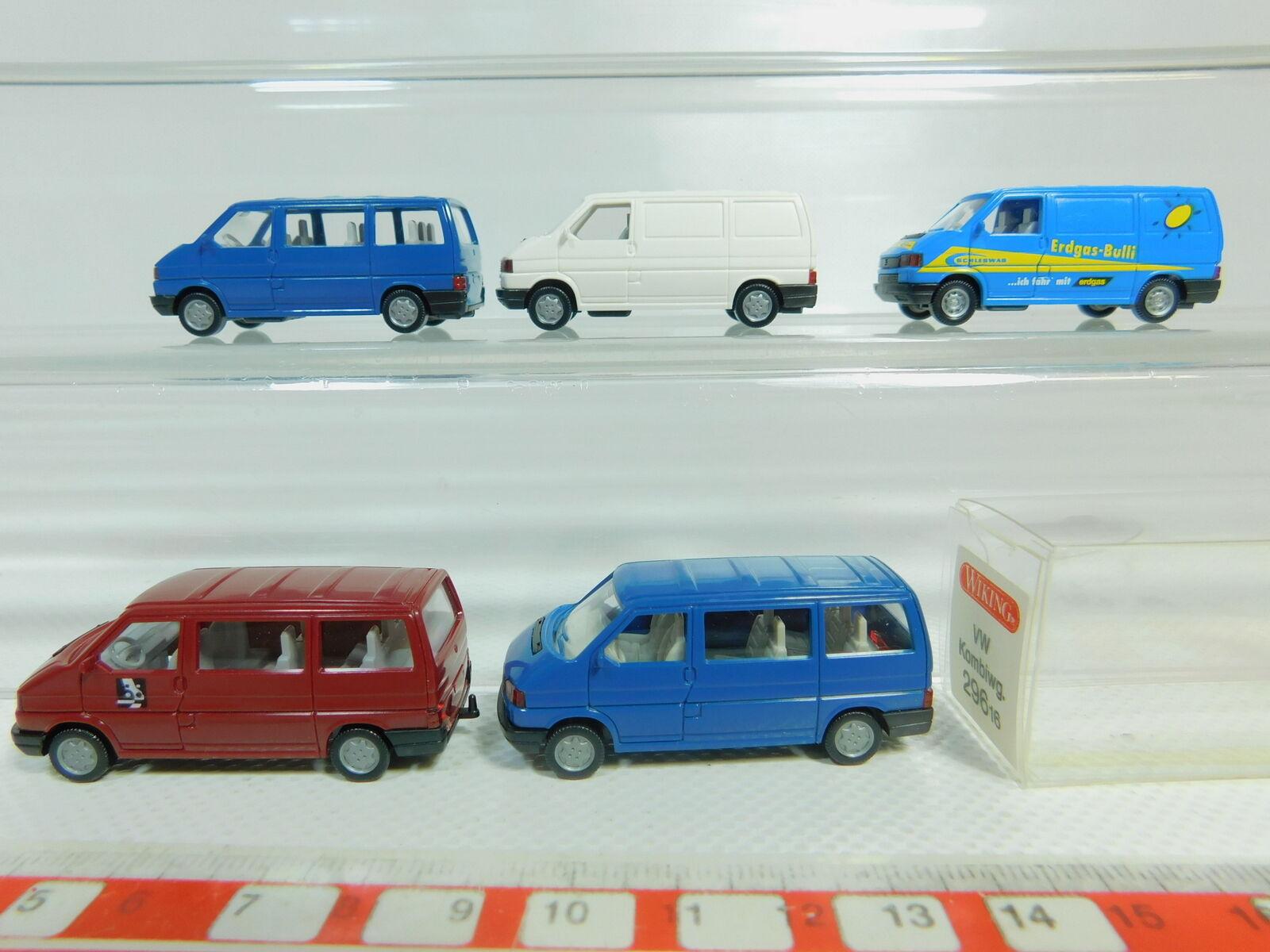 BO569-0,5x Wiking H0 1 1 1 87 Volkswagen T4  Erdgas-Bulli+296 etc sehr gut+1x OVP 6cb0e9