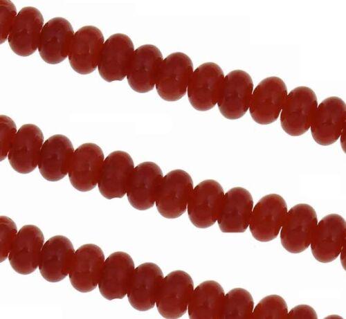 Natürliche Rote Koralle NATUR EDELSTEIN PERLEN RONDELL 5mm 20stk BEST G97
