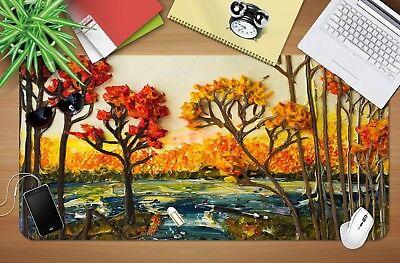 3d Rot Ahorn Baum 166 Rutschfest Büro Schreibtisch Maus Matte Groß Tastatur Pad Ausgezeichnet Im Kisseneffekt