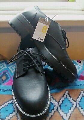 Primark Black Faux Leather Lace Up