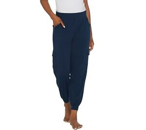 AnyBody-Women-039-s-Cozy-Knit-Cargo-Jogger-Pants-with-Pockets-Navy-Medium-Size-QVC