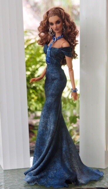 blueE JEAN EVENING  Tie Dye Fashion Gown KD, Tonner Tyler & Friends, PP, FR