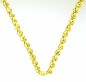 Gold-Halskette-Collier-Kordel-Kette-14Kt-Damen-amp-Kindeer-585-er-Neu-50cm-chain