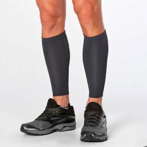 2XU-Unisex-Kompression-Wadenbandage-Sport-Bandage-Stuetzstruempfe-Wadenstuetze-Grau
