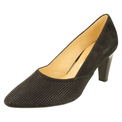 Ladies Gabor Mid Heel Court Shoes 65150