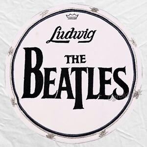 the beatles drum head ludwig big logo embroidered patch john lennon ringo starr ebay. Black Bedroom Furniture Sets. Home Design Ideas