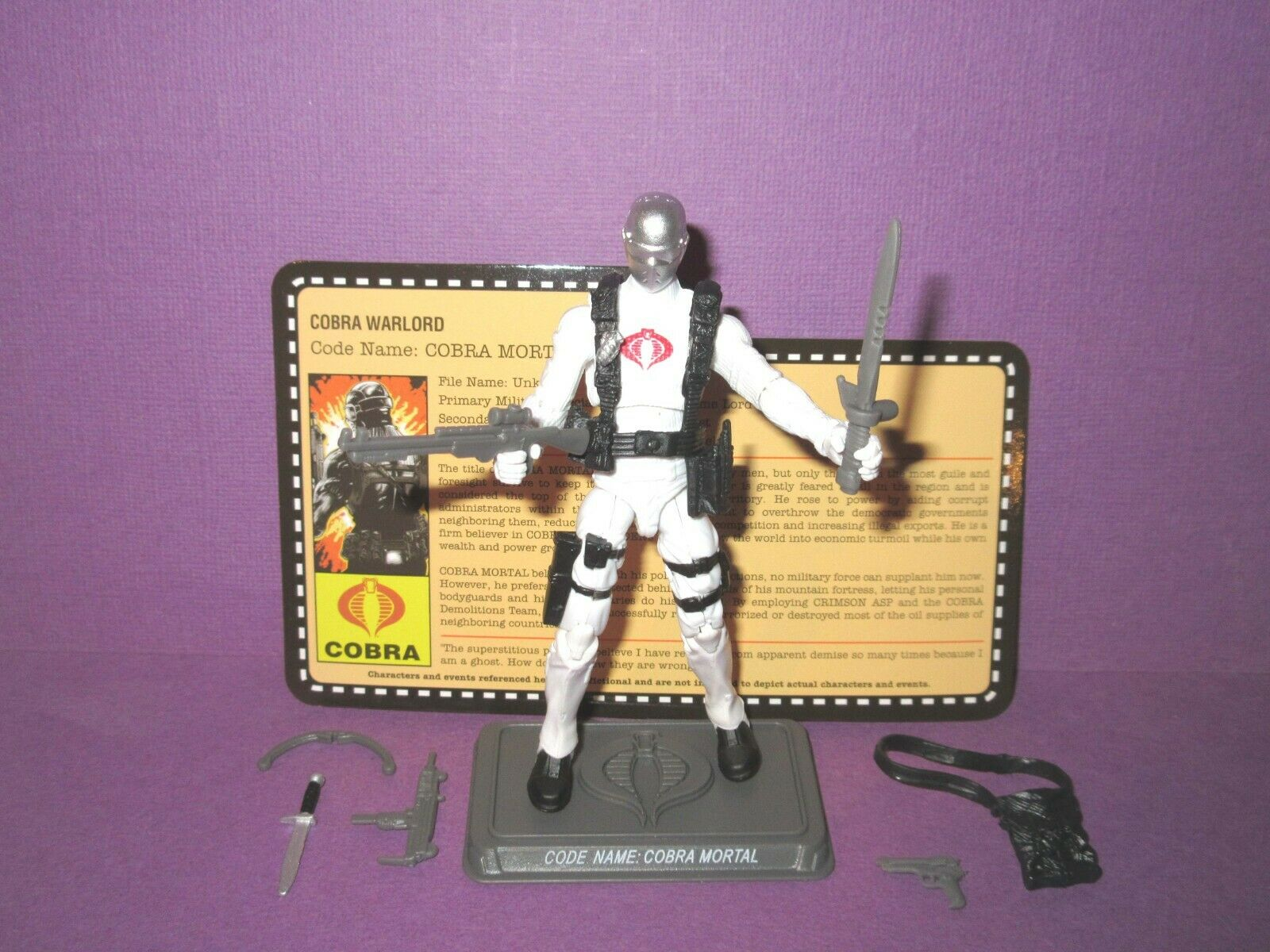 2013 Cobra Mortal - GIJOE Figure 100% Complete - Night Force Convention