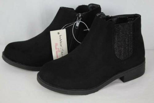 La nouvelle jeunesse Filles Noir Cheville Bottes Taille 11 Fermeture Éclair Mode Chaussures Dressy Casual