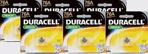 6-New-034-DURACELL-034-76A-Medical-1-5-Volt-Alkaline-Battery-LR44-A76-PX76A-V136A
