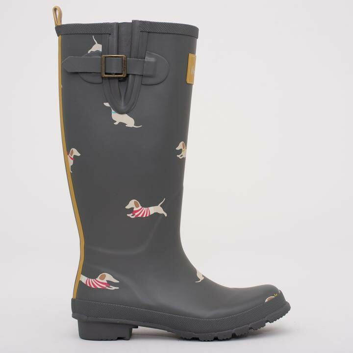 Sausage Dog Wellies By Brakeburn Charcoal Size 7 New Unboxed