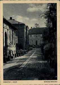 BARMSTEDT-in-Holstein-um-1930-40-Gebaeude-Partie-Schloss-RANTZAU-gebrauchte-AK