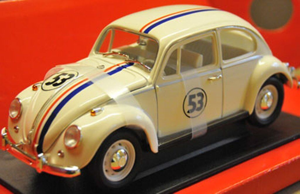 Legende stradale Herbie VW BEETLE pressofusione MODELLO RALLY AUTO panna n. 53 1 18 TH scala