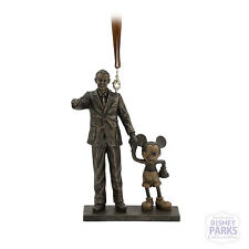 """Disney Parks Walt Disney and Mickey Mouse """"Partners"""" Statue Figure Ornament"""