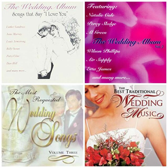 4 Wedding Music CD Lot Traditional Songs&oldies Patsy Cline Diana ...