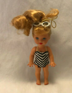 Vintage-1994-Kelly-Barbie-Doll-Bathing-Suit-Figure-Ornament-4-034-Mattel
