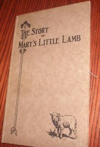 1928-1st-EDITION-034-THE-STORY-OF-MARY-039-S-LITTLE-LAMB-034-Henry-Ford-Publisher