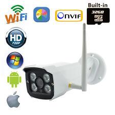 Security 720P 1.0 MP IR Wireless AP IP Camera 32 SD Card Outdoor Audio I/O HD