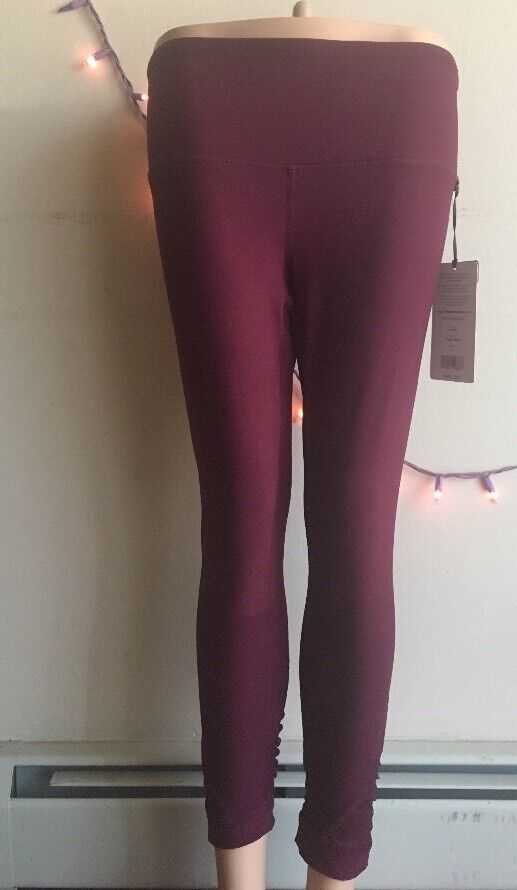 90 Degree by Reflex Leggings Style CW63950 New SizeS Cherry Jubilee High Waisted