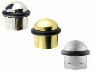 Carlisle-Brass-Solid-Domed-Top-Floor-Mounted-Door-Stop-Stopper-32mm-Diameter