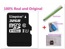 Kingston 32GB 32 GB MicroSDHC Micro SD SDHC TF Flash Memory Card 32G +Reader/Pen