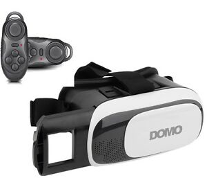 COMBO-Offer-DOMO-nHance-VR9-BC1-Remote-3D-Video-VR-Headset-Google-Cardboard