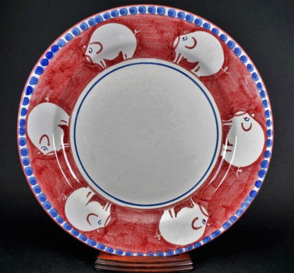 10 1/2 Dinner Piastra Raro Maialini Italiano Ceramiche D'arte Ravello Italiano