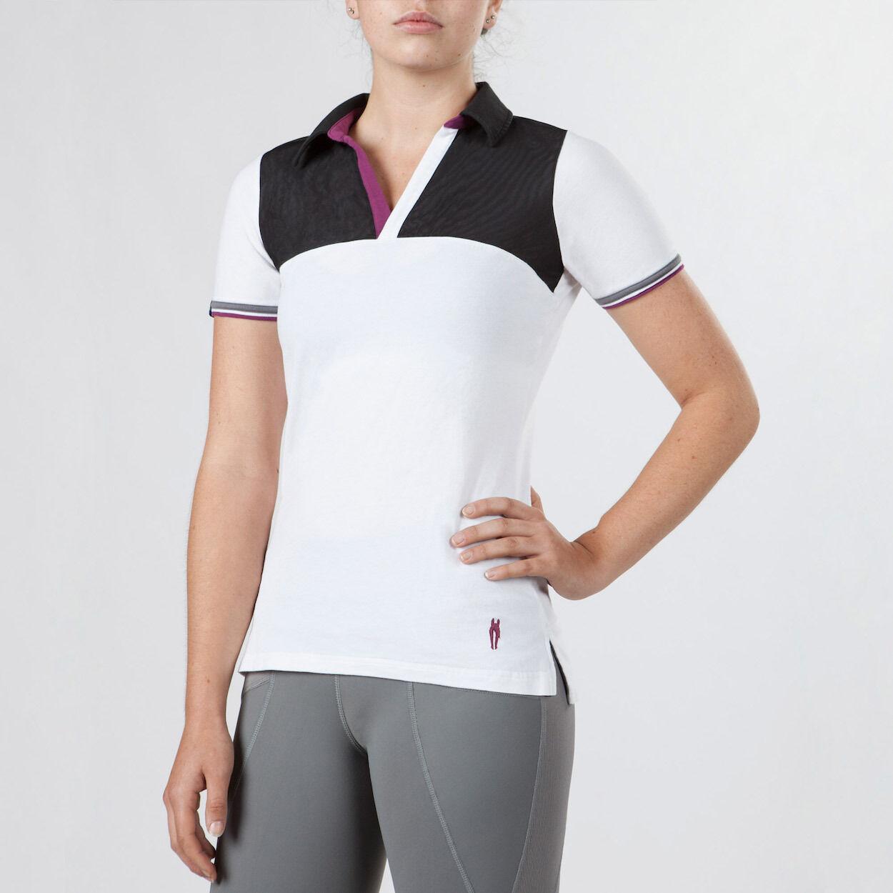 Irideon Monaco Polo Shirt-White Raspberry-M
