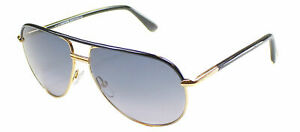 9c3a20f78 Authentic Tom Ford Cole FT0285 TF 285 01B Shiny Black Metal Aviator ...