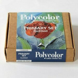 Maimeri Polycolor Primary Set Colores Vinilo Fino 5 Tubos 20 ML Made IN Italy