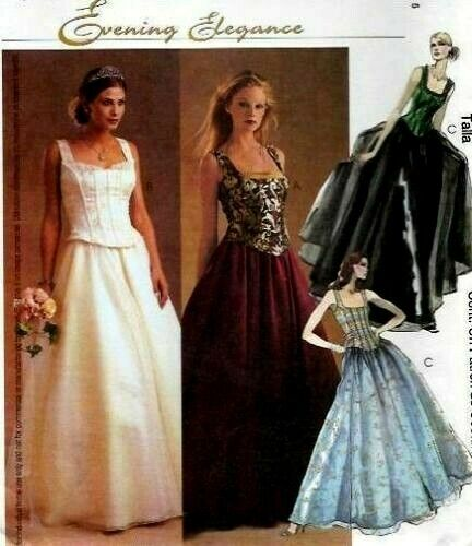 McCall/'s 3676 Evening Elegance Top Full Skirt Pattern 16-20 Reduced