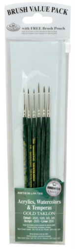 6 Extra Fine Detail Paint Brushes Miniatures Modellers War Gaming Nail Art 9139