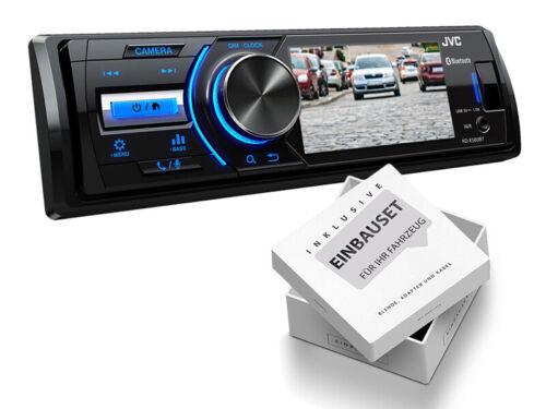 JVC kdx560bt 1din radio del coche para peugeot 206 206 cc 1998-2007 negro