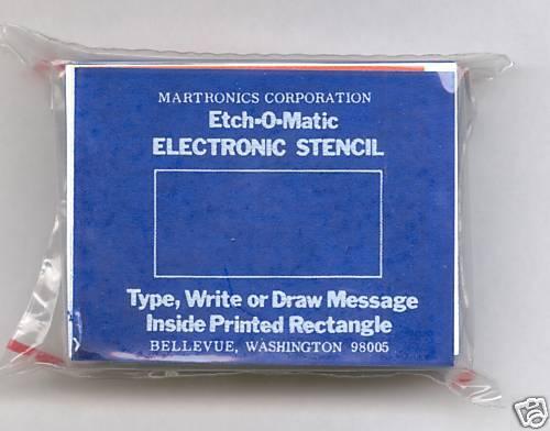 Etch-O-Matic stencils