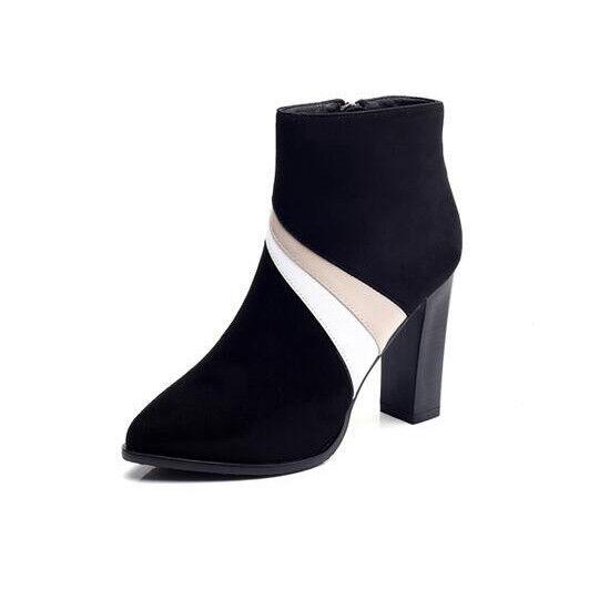 botas stivaletti bassi caviglia  10 pelle sintetica negro beige eleganti  9524