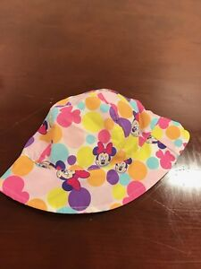 Gently Used Disney Minnie Mouse Baby Girl Youth Sunhat Bucket Hat ... d6150937434